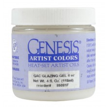Genesis Heat Set Oil Paint : Medium GLAZING GEL (also called glazing liquid and glazing medium) 118ml (4 oz) jar