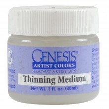 Genesis Heat Set Oil Paint : Medium THINNING MEDIUM 30ml (1oz) jar