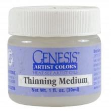 Genesis Heat Set Oil Paint : Medium THINNING MEDIUM 30ml (1oz) jar