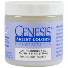 Genesis Heat Set Oil Paint : Medium THINNING MEDIUM 118ml (4 oz) jar