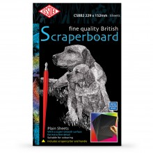 Essdee : Scraperboard : Black coated White : 229x152mm : Pack of 10 Sheets
