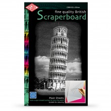 Essdee : Scraperboard : White : 502x305mm : Pack of 10 Sheets