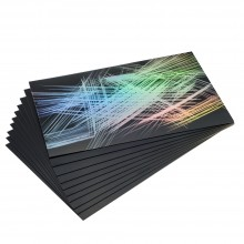 Essdee : Scraperfoil : Black coated Rainbowfoil : 305x229mm : Pack of 10 Sheets