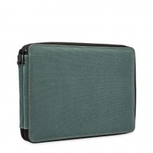 Global : Canvas Style Steel Blue Colour Pencil Case Holds 120