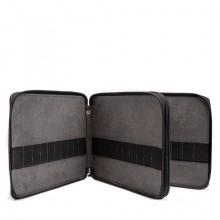Global : Leather Black Folding Colour Pencil Case Holds 120