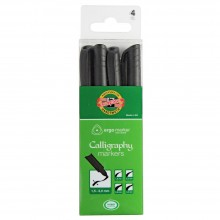 Koh-I-Noor : Calligraphic Markers 3514 : Set of 4 : 1.5, 2, 2.5 & 3mm Nibs