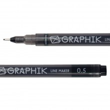 Derwent : Graphik Line Maker Pen : Black : 0.5mm