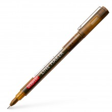 Derwent : Line Maker Pen : Sepia : 0.1mm