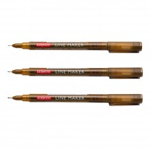 Derwent : Graphik Line Maker Pens : Sepia : Set of 3