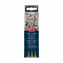 Derwent : Line Maker Pens : Graphite : Set of 3