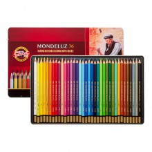 Koh-I-Noor : Mondeluz : Aquarell Coloured Pencils 3725 : Set of 36