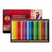 Koh-I-Noor : Mondeluz : Aquarell Coloured Pencils 3725 : Set of 36