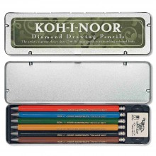 Koh-I-Noor : Diamond Drawing Mechanical Pencil Set : 5 Coloured & 1 Graphite Pencil with Eraser