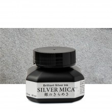Kuretake : Silver Mica Ink : 60ml