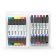 Kuretake : Zig : Kurecolor Twin WS Marker : Set of 12 : Basic Colours