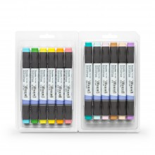 Kuretake : Zig : Kurecolor Twin WS Marker : Set of 12 : Natural Colours