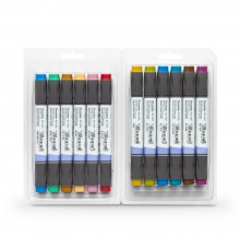 Kuretake : Zig : Kurecolor Twin WS Marker : Set of 12 : Dull Colours