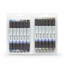 Zig : Kurecolor Twin WS Marker : Set of 12 : Grey Colours