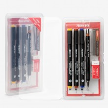 Aristo : Pigment Liner School Set 0.3,0.5,0.7mm Liners : Plus 0.5mm Mechanical Pencil