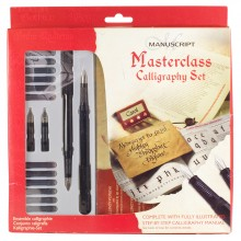 Manuscript Masterclass Set: 2 Fountain pens, 12 assorted inks and more
