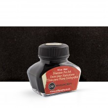 Manuscript : Calligraphy Ink 30ml : non-waterproof - for Fountain Pens : BLACK