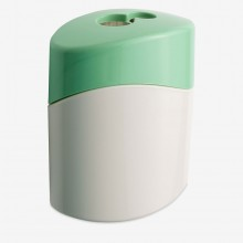 M+R : Green Line : Double Hole  Metal Pencil Sharpener