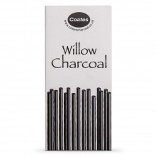 Coates : Willow Charcoal : Pack of 100 Half Sticks : Assorted Sizes