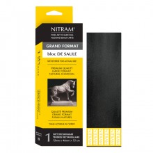 Nitram : Bloc de Saule Square Charcoal : Extra Soft : 46mm