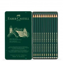 Faber Castell : Series 9000 Pencil : Metal Tin Set of 12 : 8B-2H