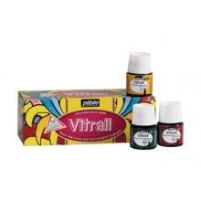 Pebeo : Vitrail School Pack of 10 : 45ml : Assorted Colours