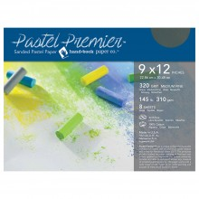 Global : Pastel Premier : Sanded Pastel Paper : Medium Grit : 9x12in : Pack of 8 : Slate