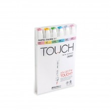 Shin Han : Touch Twin 6 BRUSH Marker Pen Set : Pastel Colors