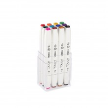 Shin Han : Touch Twin 12 BRUSH Marker Pen Set : Main Colors