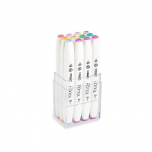 ShinHan : Touch Twin 12 Brush Marker Pen Set : Pastel Colors