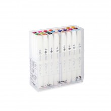 Shin Han : Touch Twin 24 BRUSH Marker Pen Set : Assorted