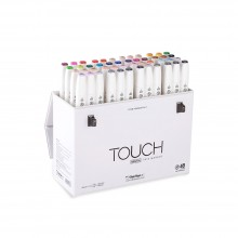 Shin Han : Touch Twin 48 BRUSH Marker Pen Set : Assorted