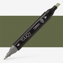 ShinHan : Touch Twin Marker Pen : Olive Green Dark : Y225