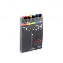 ShinHan : Touch Twin 6 Marker Pen Set : Main Colors