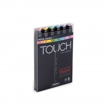 ShinHan : Touch Twin 6 Marker Pen Set : Pastel Colors