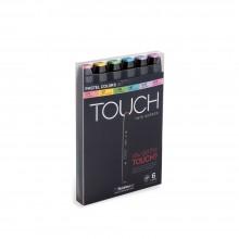 ShinHan : Touch Twin 6 Marker Pen Set : Pastel Colors