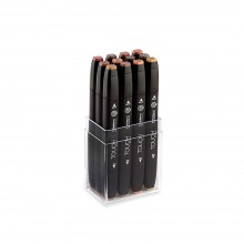 Shin Han : Touch Twin 12 Marker Pen Set : Wood Colors