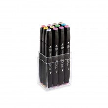 Shin Han : Touch Twin 12 Marker Pen Set : Pastel Colors