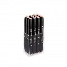 ShinHan : Touch Twin 12 Marker Pen Set : Skin tones