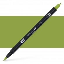 Tombow : Dual Tip Blendable Brush Pen : Dark Olive