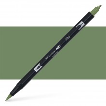 Tombow : Dual Tip Blendable Brush Pen : Gray Green