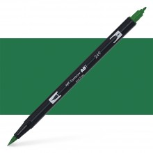 Tombow : Dual Tip Blendable Brush Pen : Hunter Green
