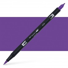 Tombow : Dual Tip Blendable Brush Pen : Violet