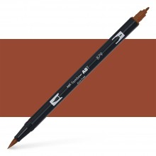Tombow : Dual Tip Blendable Brush Pen : Brown