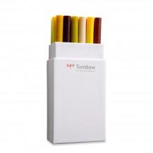 Tombow : Art Dual Blendable Brush Pens : Set of 18 : Earth Colours