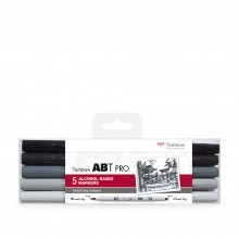 Tombow : ABT Pro : Alcohol Based Marker Pen : Set of 5 : Cold Grey Colours